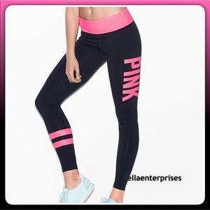 VS Pink Black Hot Pink Ultimate Yoga Leggings